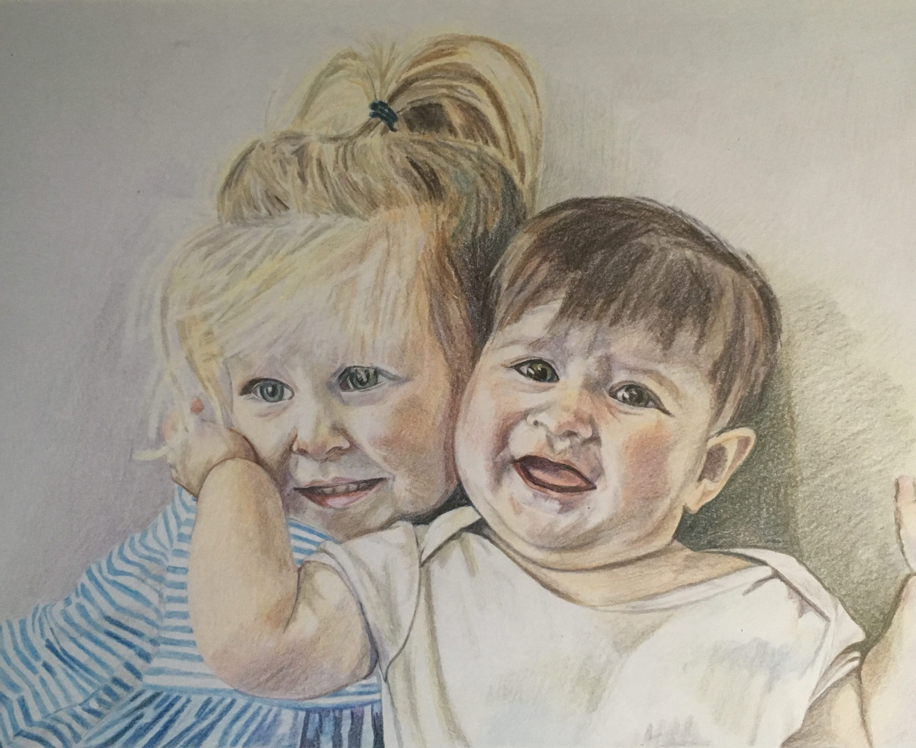 Cassie and Maggie 11 x 15 inches